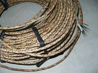 #18AWG NOS Western Electric Waved Solid Copper Cloth Wire  6M X4( #11493 )