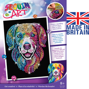 Sequin Art Harlequin Hound Labrador Retriever Craft From The Purple Range 2103