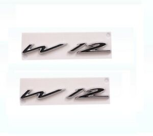 2x W12 Side BADGE EMBLEM ABS Sticker for BENTLEY CONTINENTAL GT GTC Flying Spur