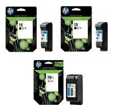 3 Stück Original HP Ink Deskjet 920c 940c 3816 3820 3822 / 15 + 15 + 78 XXL