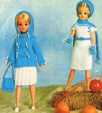 """12"""" bambole adolescente vestiti Knitting Pattern. copia laminato. (V Bambola 19)"""