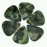 Lots of 24 pcs 0.71mm Medium Blank Guitar Picks Celluloid No Print Abalone Color