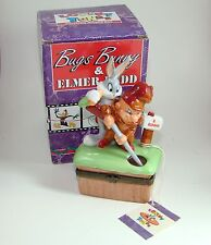 Midwest of Cannon Falls Porcelain Hinged Box Bugs Bunny and Elmer Fudd PHB