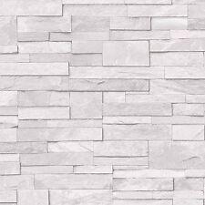 Ideco White Stone Wallpaper Textured Washable Vinyl A17201