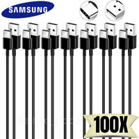 LOT OF 100X USB C Type C Cable Samsung Fast Charger Charging Cord Wholesale Bulk