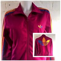 Women's Adidas Originals Tracksuit Top Size 16 Pink Casual Gym Jacket
