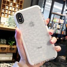 Transparent Geometric Diamond Phone case For iPhone XS MAX XR XS 6 6S 7 8 Plus X