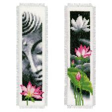 Vervaco-Signet-Cross Stitch Kit-Lotus & Bouddha (Ensemble de 2) - PN-0155652