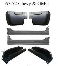 67 72 Chevy GMC 6Pc Extended Rocker, Cab Corner & Floor Support Kit, Rust Repair