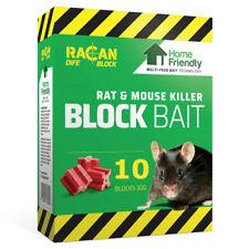 Racan Dife Block Rat & Mouse Killer Poison Pest Control Blockbait 10 x 30g