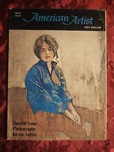 AMERICAN ARTIST May 1971 Daniel Schwartz Geoffrey Clements Roy P. Madsen