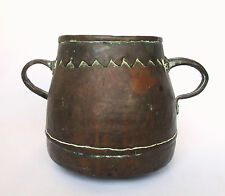 1700's, Rare Antique 1.4kg Copper Casting Pot , Islamic Ottoman-Mamluk