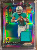 Tua Tagovailoa Pink Panini Prizm Football Rookie Card Patch SSP #2 RC Dolphins
