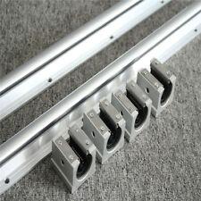 2Pcs SBR10-1000mm Linear Rail Slide Guide + 4Pcs SBR10UU Bearing Block For CNC