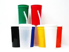 3 Large Drinking Glasses Cups Tumblers, Lids & Straws Mfg USA Choicee 8 Colors