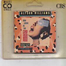Alyson Williams-My Love Is So Raw 3 inch cd maxi single
