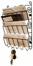 3 Tier Wall Mount Letter Rack with 5 Slot Key Holder