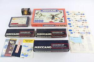 6 x Assorted Vintage MECCANO Set & Accessories Inc. Motor, Tool, Conversion Set