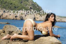 Sexy Photo 8.25x11.75 Denise Milani Brunette Big Boob Yellow Bikini #108