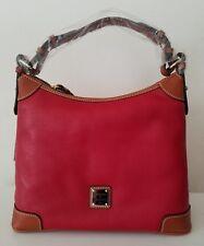 NWT Dooney Bourke Pebble Leather Hobo Red