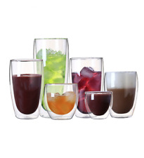 Heat-resistant Double Wall Glass Cup Beer Coffee Cup Transparent Drinkware Glass