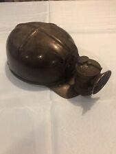 VINTAGE MSA COMFO CAP LOW VEIN MINER'S HELMET Very Nice Liner And Carbide Lamp