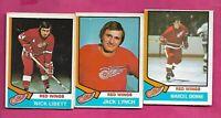 1974-75 OPC RED WINGS DIONNE + LIBETT + LYNCH CARD  (INV# C5225)