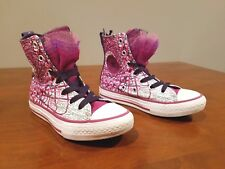 CONVERSE Chuck Taylor All Star Party Hi Top Sneaker Junior Sz 12 Youth Pink