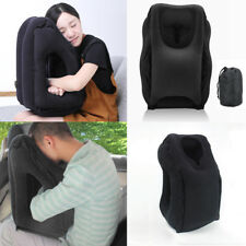 Inflatable Air Cushion Travel Pillow Head Neck Sleep for Camping Flight UK