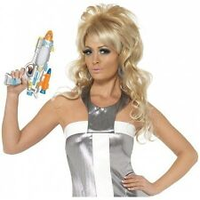 Long Blonde 60s Wig Adult Womens Space Girl Barbarella Costume Fancy Dress Acsry
