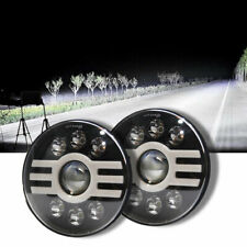 7in Round LED headlight Halo DRL Hi Lo Beam 6000K 3000K for Jeep Wrangler JK TJ