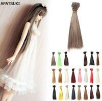 15*100cm DIY Doll Wigs Hair For BJD/SD Doll Hair Multi-colors Straight Hair Wigs