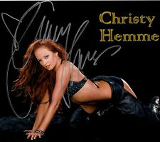 CHRISTY HEMME hand-signed HOT IN LEATHER ON HANDS & KNEES 8x10 w/ uacc rd COA