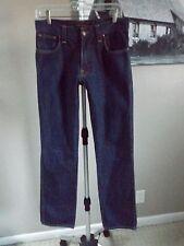 NUDIE JEANS Dark Wash SLIM JIM Organic Dry Brown Twill Straight Leg Jeans 31x34