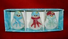 Set of Three SNOWMEN Floating Candles New in Box Candle-Lite