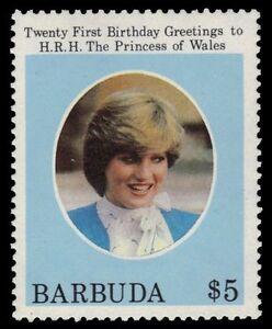 BARBUDA 542 (SG626) - Princess Diana 21st Birthday Issue (pa37012)