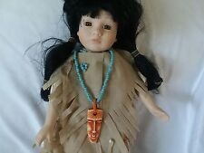 "Kingstate The Dollcrafter 16"" Indian Porcelain Doll"