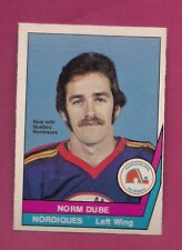 RARE 1977-78 OPC WHA # 54 NORDIQUES NORM DUBE ROOKIE EX-MT CARD  (INV#1339)