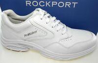 ROCKPORT PROWALKER CATALYST 3 MEN'S WHITE LEATHER WALKING SHOES WIDE(W), V81061