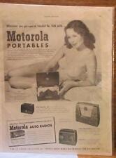 VINTAGE COUNTRY GENTLEMAN MAGAZINE PAGE -  AD FOR MOTOROLA PORTABLE RADIOS