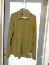 Usmc Polartec Frog Grid Fleece 1/2 Zip Pullover Medium Long Coyote Brown
