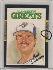 1984 Leaf Misprinted Back Very Rare Read #173 Mark Eichhorn