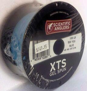 SCIENTIFIC ANGLERS 100 LB BLUE 500 YD XTS GEL SPUN BACKING -  FREE US SHIPPING