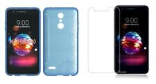 BLUE S-LINE TPU CASE+ CLEAR SCREEN PROTECTOR ACCESSORY FOR LG K10 2018