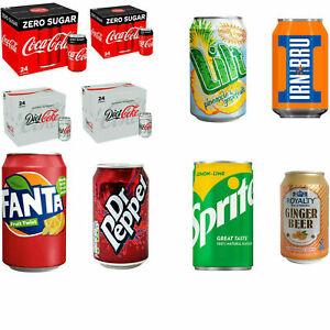 BRAND NEW 24 PACK OF DRINKS COKE/LILT/SPRITE/RUBICON/COKE ZERO/DIET SUMMER BBQ