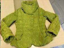 Manteau d'hiver court vert anis Cassis Collection, taille 42, comme neuf