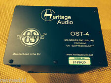 Heritage Audio OST4 500 Series Rack for Heritage API  or any  500 mod AuthrDealr