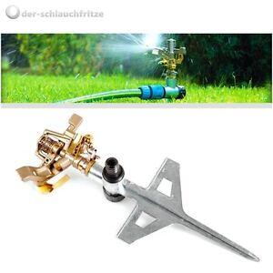 Rasensprenger bis 530m2 Metall Impulsregner Kreisregner Rasen Sprenger Sprinkler