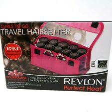 Revlon Perfect Heat Curls To Go Travel Hairsetter Tourmaline Ionic Curler