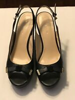 Women's Shoes Tommy Hilfiger KAMERON Wedge Sandals Heels Leather Black